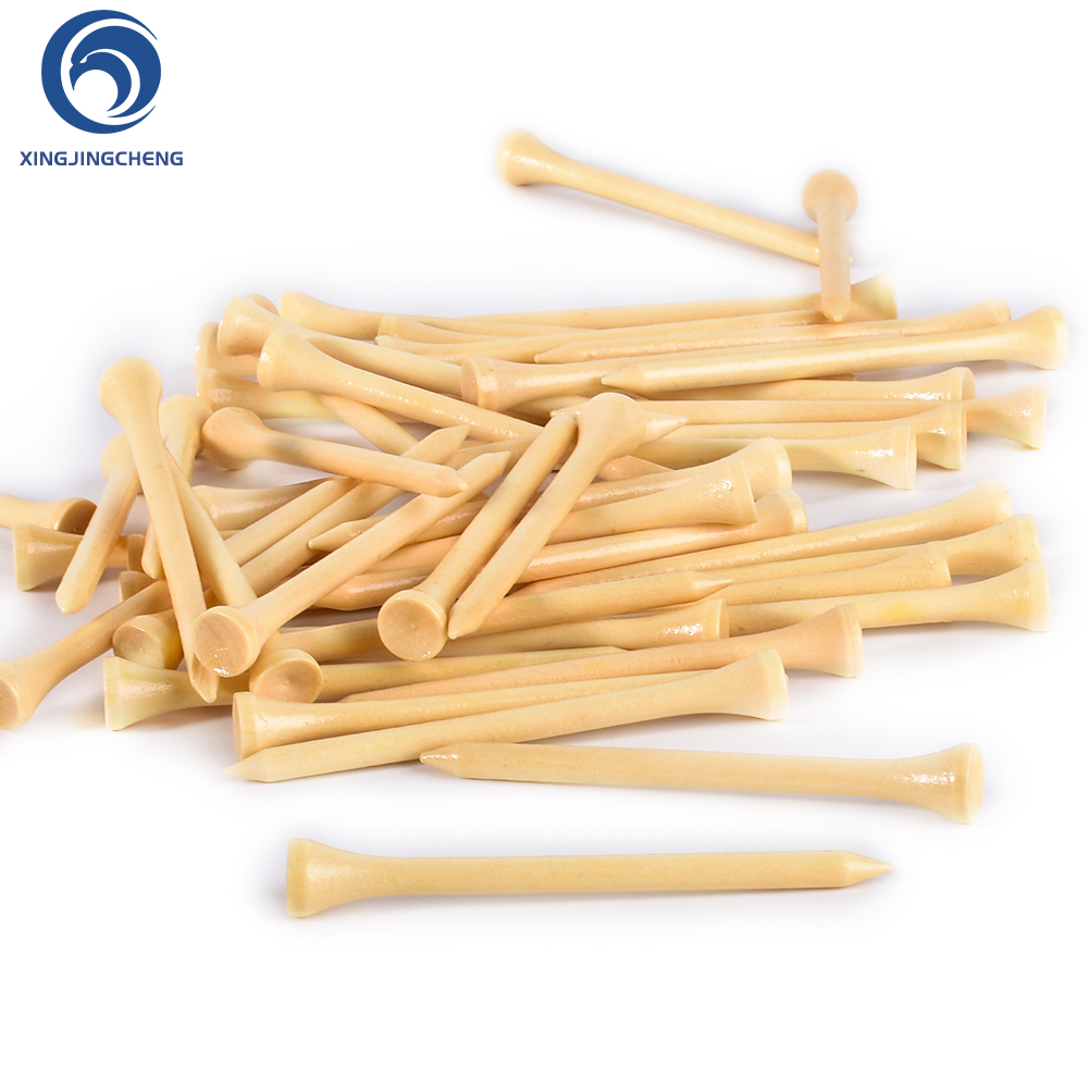 100Pcs Hard Wood Golf Tees For Golf Swing Practice Accessories Unbreakable Wooden Tee Golf Ball Training 42 54 70 83 Mm White
