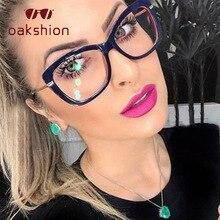 oakshion Fashion Square Clear Glasses Frames Women Men Transparent Eye Brand Optical Computer  Eyewear myopia