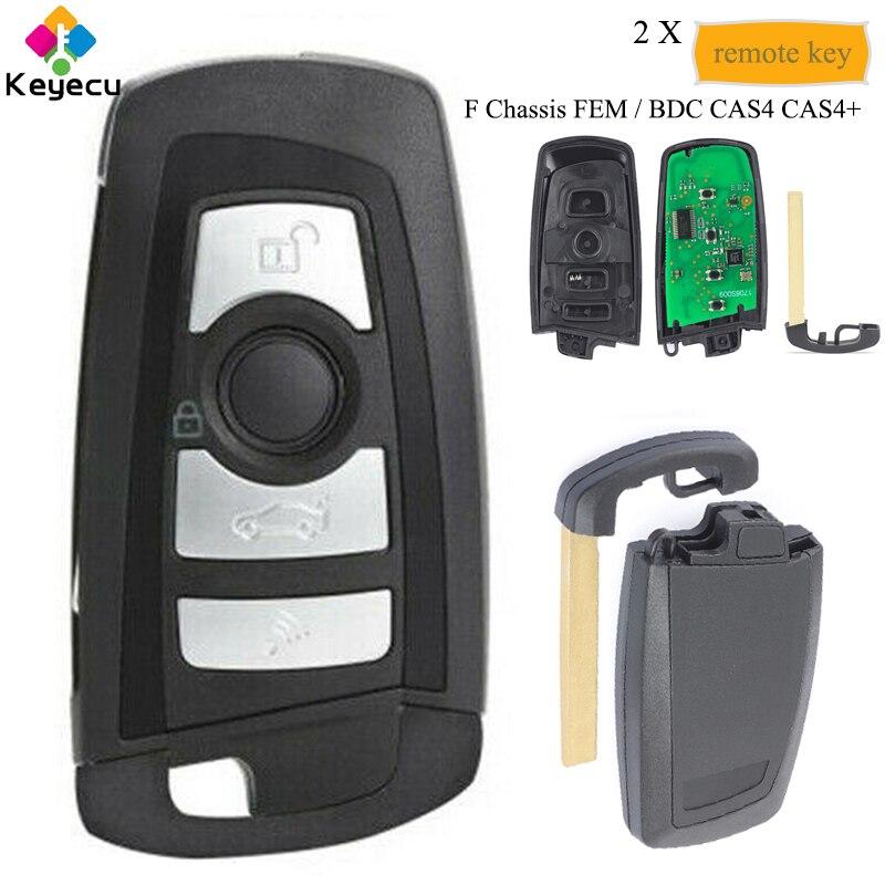 KEYECU paire télécommande intelligente clé de voiture avec 4 boutons 315 MHz/433 MHz/868 MHz PCF7953-FOB pour BMW F châssis FEM BDC CAS4 CAS4 +