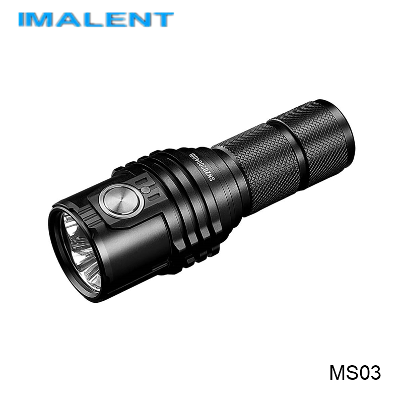 Imalent MS03 Type-C Rechargeable 21700 Battery Flashlight 13000 Lumens Powerful Torch Lanterns With Floodlight Spotlight