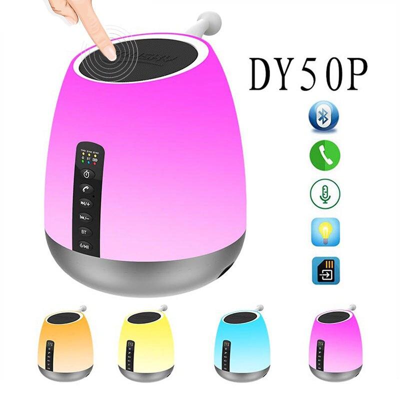 Portable sans fil Bluetooth haut-parleur stéréo Subwoofer téléphone ordinateur haut-parleur colonne mains libres appel lumière LED FM Radio USB Charge