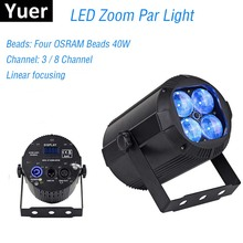 2019 Newest Zoom Par Lights 4X10W RGBW 4IN1 LED Flat Par Lights DJ Disco Lamp KTV Bar Party Backlight Beam Wash Projector