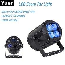 2019 Nieuwste Zoom Par Lichten 4X10W Rgbw 4IN1 Led Platte Par Verlichting Dj Disco Lamp Ktv Bar Party Backlight Beam wassen Projector