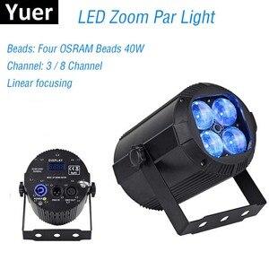 Image 1 - 2019 più nuovo Zoom Par Luci 4X10W RGBW 4IN1 LED Flat Par Luci Della Discoteca del DJ Della Lampada KTV Bar Partito Retroilluminazione Fascio lavaggio Proiettore