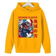 Demon Hunter Blade Character Hoodie Boy Children'S Top Harajuku Style Japanese Anime Kawaii