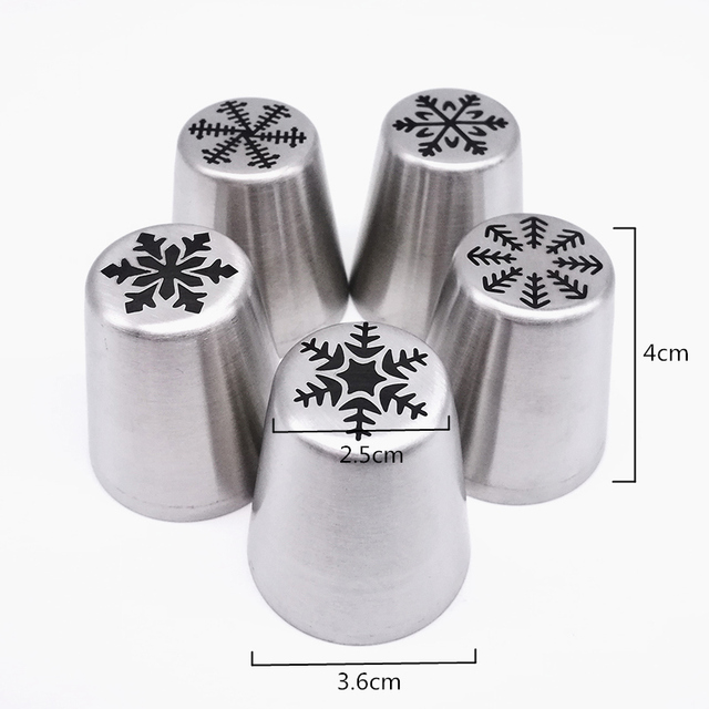 Christmas Pastry Cake Nozzles Set