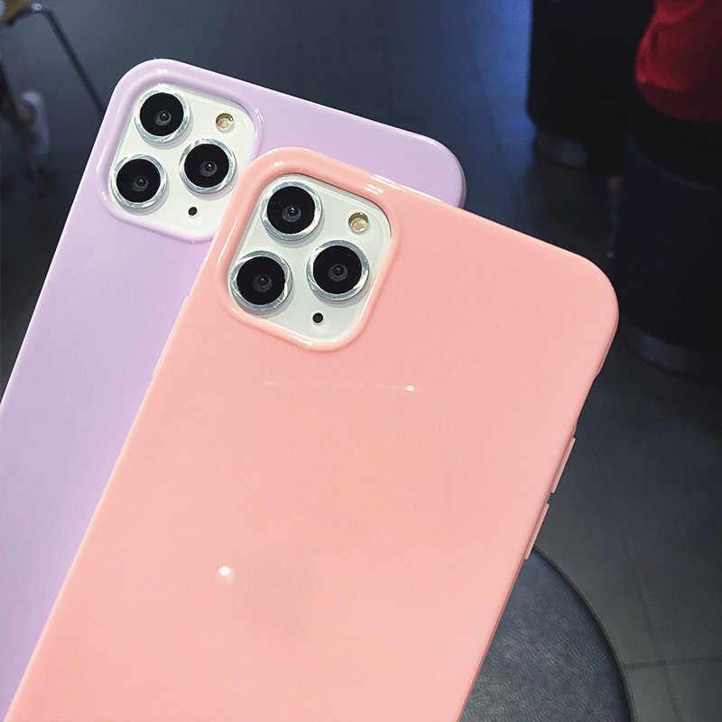 Lovebay Nhiều Màu Sắc Điện Thoại Trường Hợp Cho iPhone XR X XS Max 6 6S 7 8 Plus 11Pro Max Kẹo Chắc Chắn màu Mềm TPU Sáng Đơn Giản Nắp Lưng