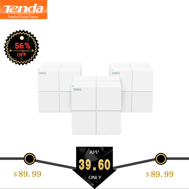 Tenda Nova MW6 Whole Home Mesh Wireless WiFi System with 11AC 2 4G 5 0GHz WiFi