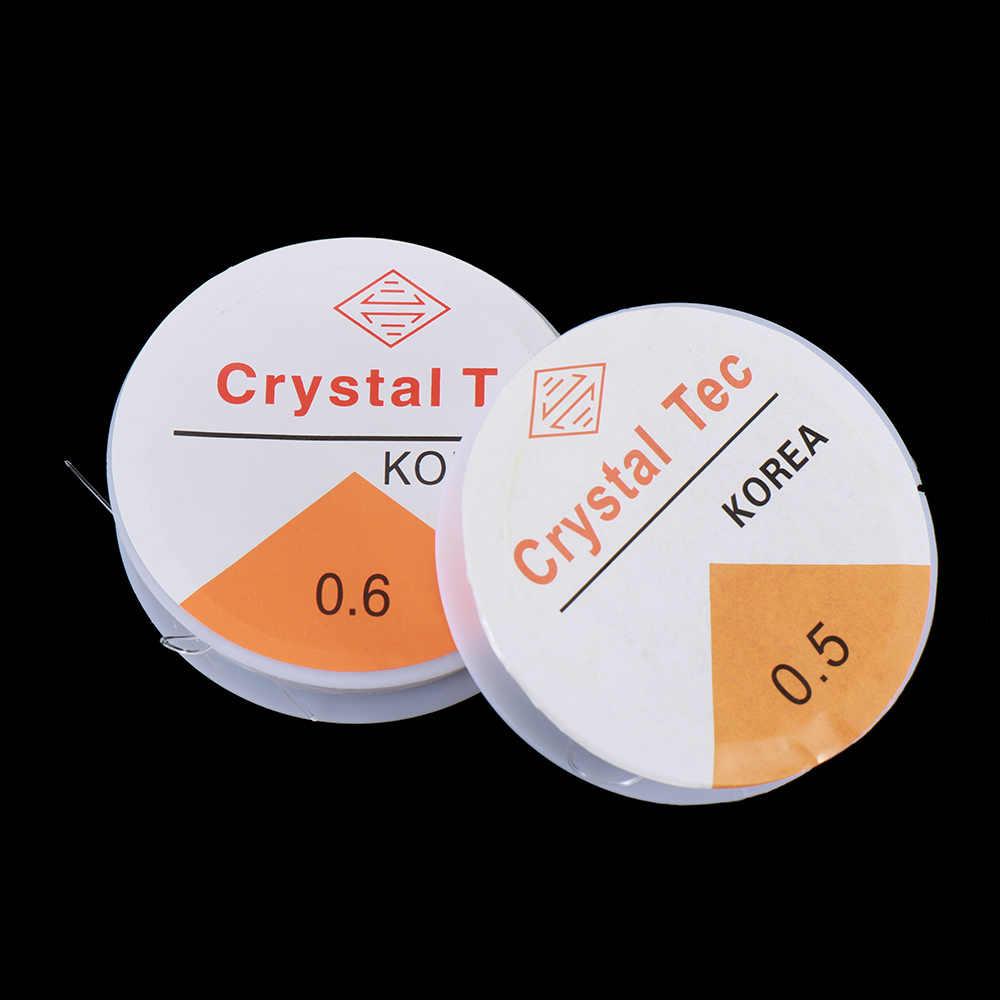 1 rolo transparente estiramento elástico de cristal linha de corda cordão/corda/linha diy artesanal pulseira & colar acessórios