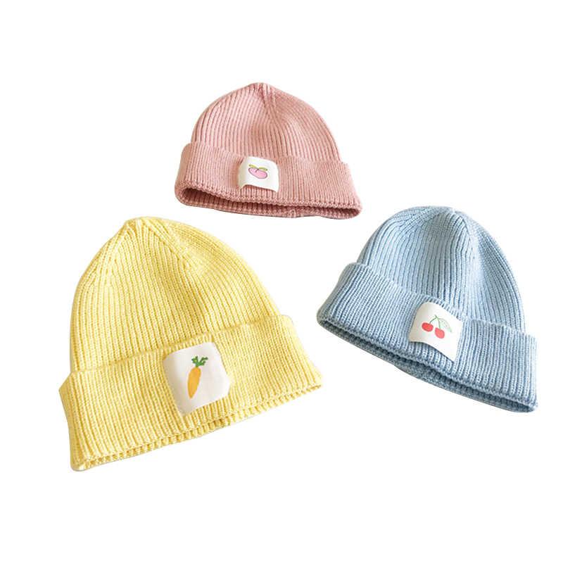 2020 เด็ก Stuff อุปกรณ์เสริมสำหรับเด็กเด็กวัยหัดเดินเด็กทารกเด็กทารกเด็กฤดูหนาวที่อบอุ่นถักโครเชต์ Beanie หมวกหมวกผลไม้ 1-8Y