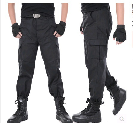 Summer Cowboy Work Pants Men And Women Multi-pockets Wear And Dirt Welders Pants Loose-Fit Labor Safety Pants