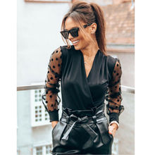 Sexy Deep V neck Blouse For Women's Blouses Office Ladies Shirt