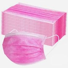 Caliente Rosa desechable cara máscara adulto mujeres hombres Mascarillas de proteccion protectora máscara Boca transpirable protección Facial Masque
