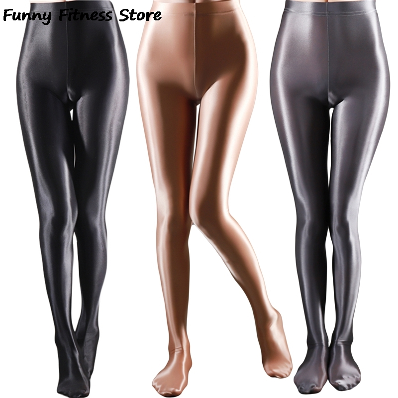 Pole Dance Clubwear Bright Smooth Yoga Pants Push Up Leggings Women Gym Fitness Workout Elastic Trousers Seamless Legging Pant