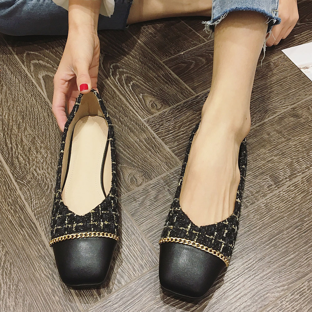 2020 Spring Women Shoes Mixed Colors Women's Flats Square Top Slip-On Fashion Office Ladies Work Shoes Females Shoes Plus Size