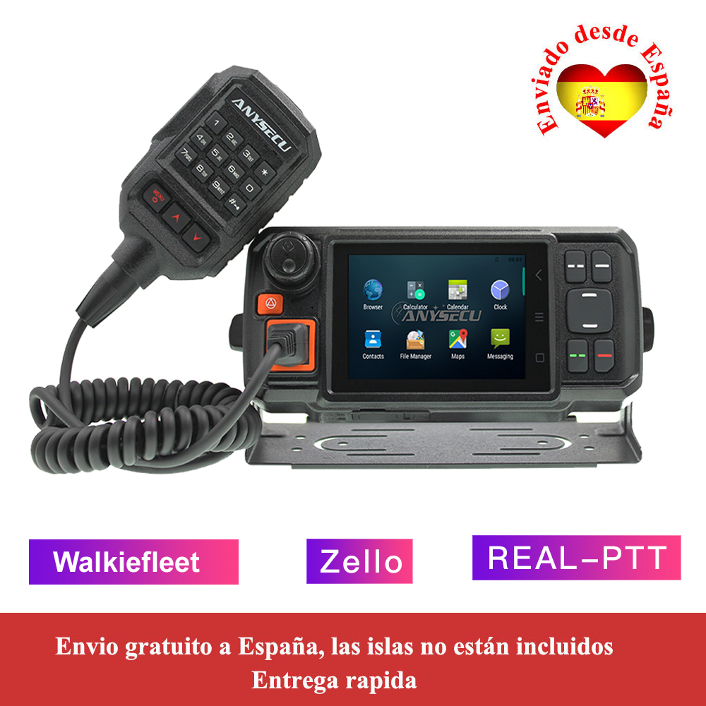 Desktop Charger with windglass car mount for Radio-Tone RT4 4G PTT Smartphone