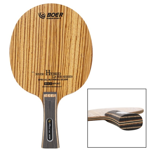 Table Tennis Racket Bottom Handle (Pen-Hold Grip) Lightweight Durable Ping Pong Racket Blade Table Tennis Accessories 2