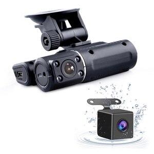 Image 2 - Двойная камера DVR i1000 Full HD 1080P, видеорегистратор с двумя объективами, видеорегистратор с 2 камерами ночного видения, Автомобильный видеорегистратор i1000s