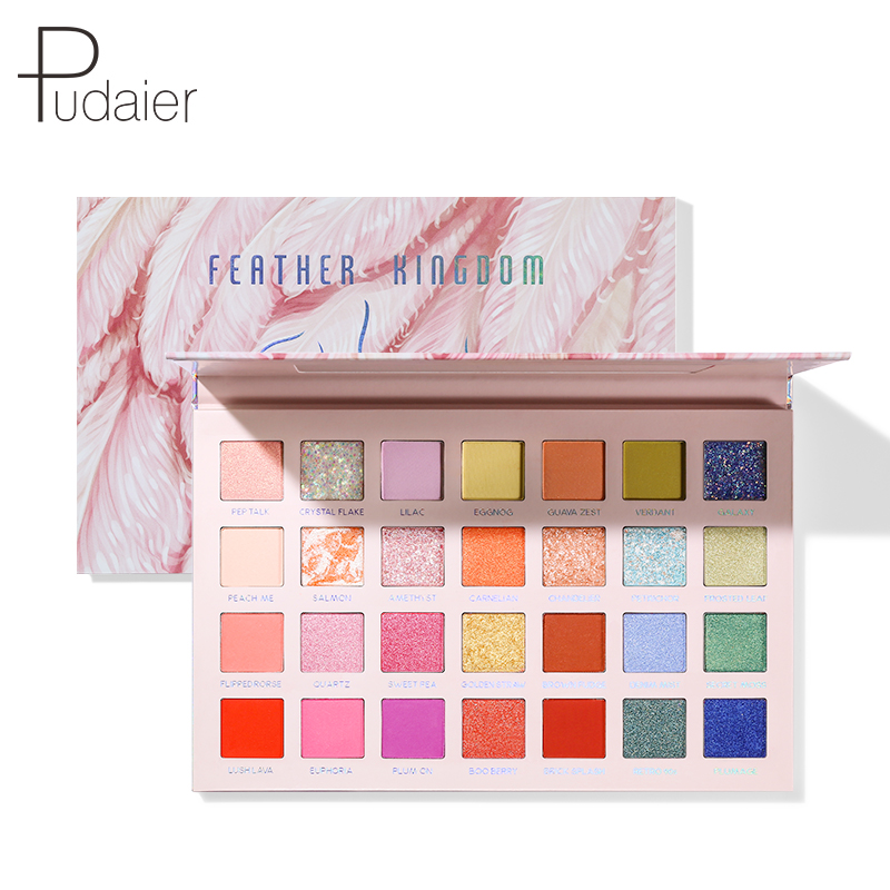 Pudaier 28 Color Matte Pearl Eyeshadow Palette Waterproof Easy To Wear Eye Shadow Professional Makeup Set Official Product