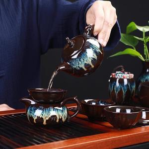 Image 3 - Çin Kung Fu çay seti seramik sır çaydanlık çay fincanı Gaiwan porselen Teaset ısıtıcılar Teaware setleri Drinkware çin çay töreni