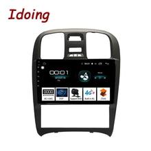 "Ido 9 ""2.5D سيارة أندرويد راديو مشغل وسائط متعددة لشركة هيونداي سوناتا Fe 2003 2009 4G + 64G ثماني النواة لتحديد المواقع والملاحة لا 2din 3G"