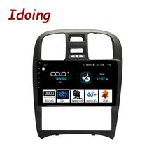 """Idoing 9 """"2.5D 車アンドロイドラジオマルチメディアプレーヤーのためのヒュンダイソナタの fe 2003 2009 4 グラム + 64 3g オクタコア gps ナビゲーションなし 2din 3 グラム"""