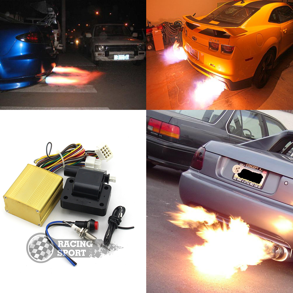Car Auto Single Exhaust Flame Thrower Fire Burner Afterburner Kit For Cars Motors ATVs Professional