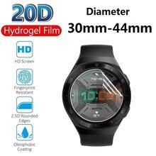 2 pçs hidrogel película protetora para relógio inteligente protetor de tela para relógio redondo diâmetro 30 31 33 34 35 37 38 39 40 42 43 44mm