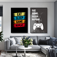 Eat Sleep Game ripeti Gaming Wall Art Poster Gamer 5D diamante pittura Poster e stampe per ragazzi camera immagine decorativa