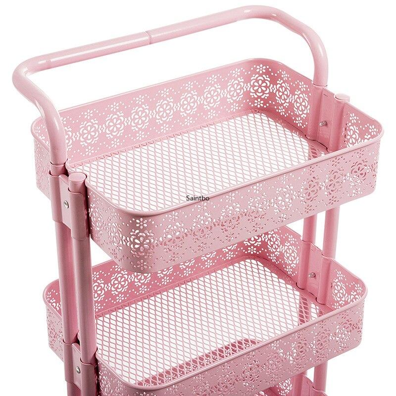 Per la casa in metallo piccolo carrello retro vuoto modello rack di stoccaggio soggiorno mensola della cucina organizzatore camera organizzatore - 5