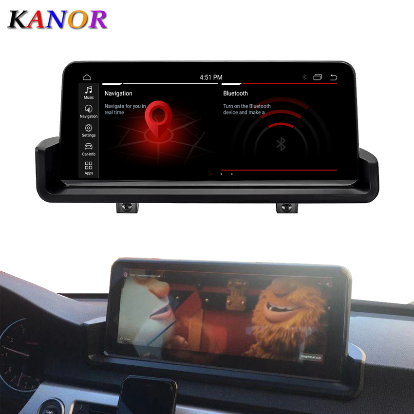 KANOR 10.25 IPS screen PX6 Six Core 4+32G Android 9.0 car radio multimedia palyer for BMW 3 serise E90 E91 E92 E93 GPS WIFI BT image
