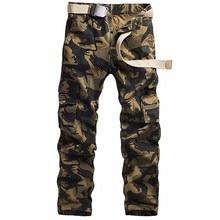 Men's camouflage multi-pocket cargo pants military pants khaki cargo pants military cargo pants slacks