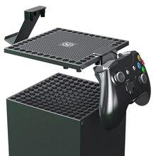 غطاء غبار ل Xbox سلسلة X المضيف متعددة الوظائف تبديد الحرارة صافي سماعة أذرع التحكم في ألعاب الفيديو مقبض رف رف اكسسوارات