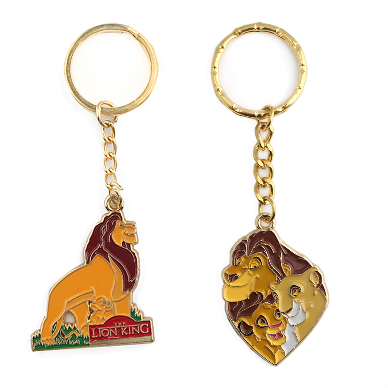 K349 The Lion King Keychain Keys Ring Gift For Movies Fans Pendant Key Holder Car Key Rings Jewelry 1pcs