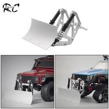 Pala metálica para nieve, servocontrol, excavadora, arena, nieve, barrido para 1/10 RC Crawler Axial SCX10 90046 Traxxas TRX 4 TRX6 RGT 86100