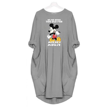 2019 Fashion Dress Women Mickey Cartoon Print Clothes Plus Size Dresses Casual Clothing Fall Woman Party Night