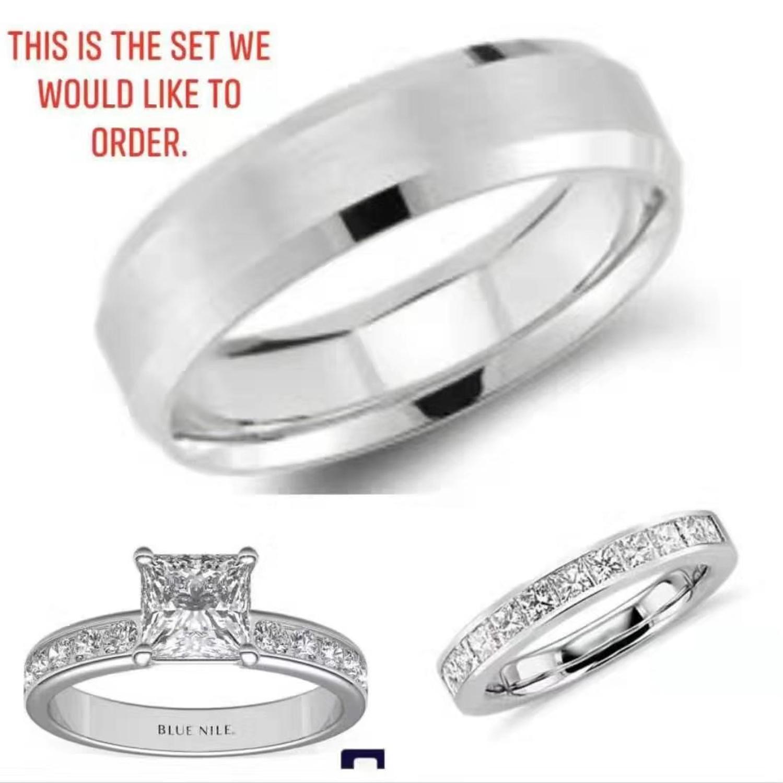 Articles personnalisés bague Moissanite classique ronde brillante coupe bijoux bague de mariage bague de fiançailles 585