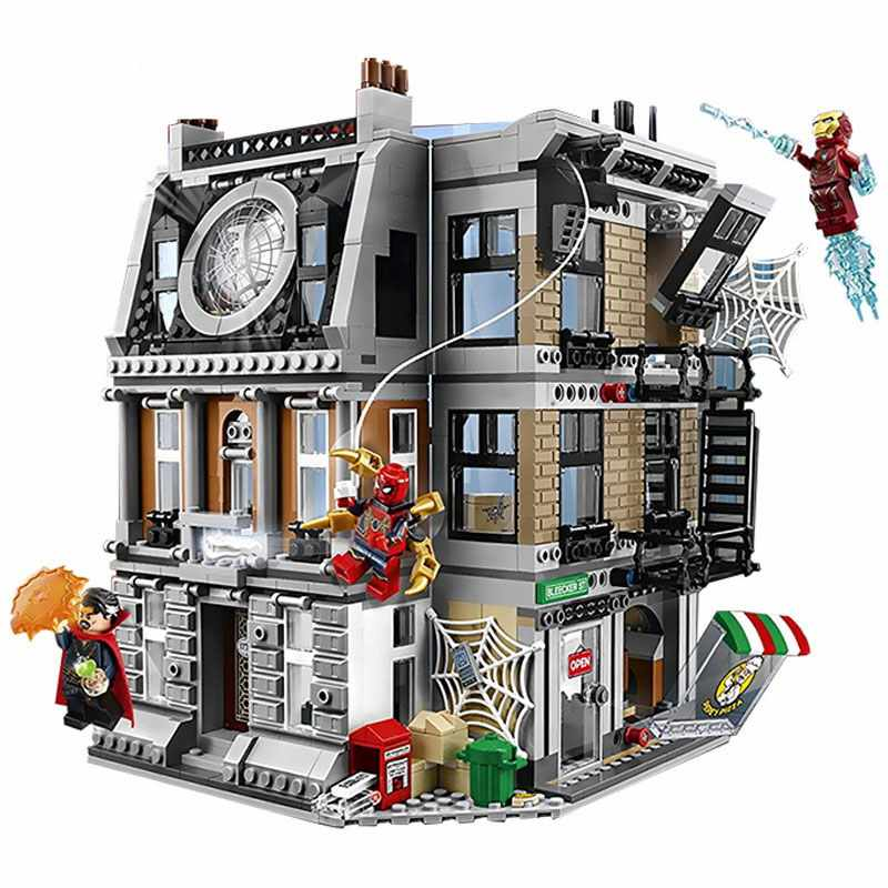 10840 Marvel Avengers Infinity Guerra Sanctum Sanctorum Resa Dei Conti Iron Man Spidermans Building Block Giocattoli Compatibile Legoinglys