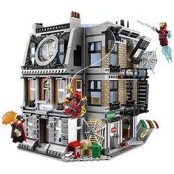 10840 Marvel Мстители Бесконечность войны Sanctum Sanctorum Showdown Железный человек Spidermans строительные блоки игрушки Совместимые Legoinglys