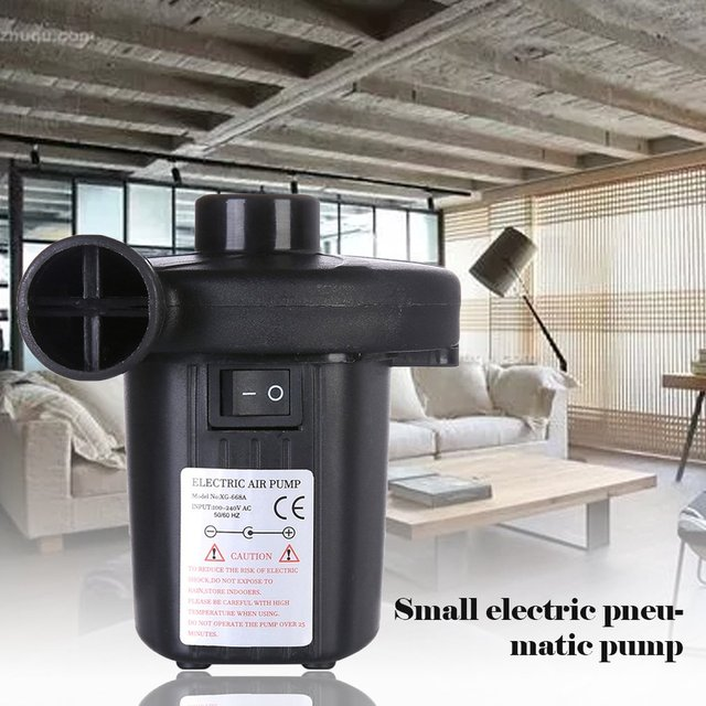 Electric Air Pump Home Inflate Deflate For Air Mattress Air Bed Electric Inflator Pump Small Inflatable Pump
