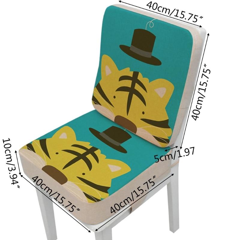 2 Pcs/Set Anti-Skid Cartoon Animal Print Dining Children Cushion Increased Pad N7ME