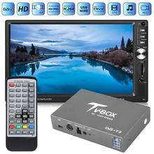 DVB-T2 автомобильный мобильный цифровой ТВ приемник тюнер коробка монитор видео система ТВ приемник коробка для автомобиля DVD видео система