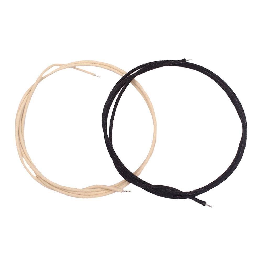 Gorąca sprzedaż kable gitarowe odporne na zużycie 2 sztuk/partia 1m gitara Pickup miedziany kabel pokryte tkaniną Pushback Instrument muzyczny