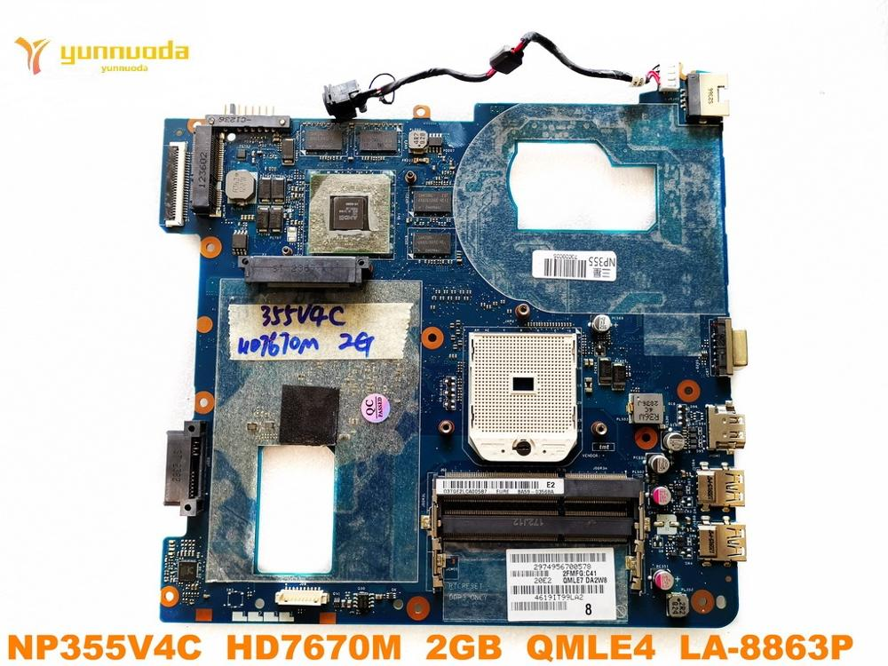 Original for Samsung NP355V4C laptop motherboard NP355V4C HD7670M 2GB QMLE4 LA 8863P tested good free shipping