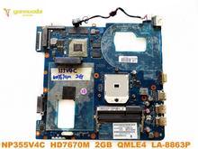 Original für Samsung NP355V4C laptop motherboard NP355V4C HD7670M 2GB QMLE4 LA-8863P getestet gute freies verschiffen