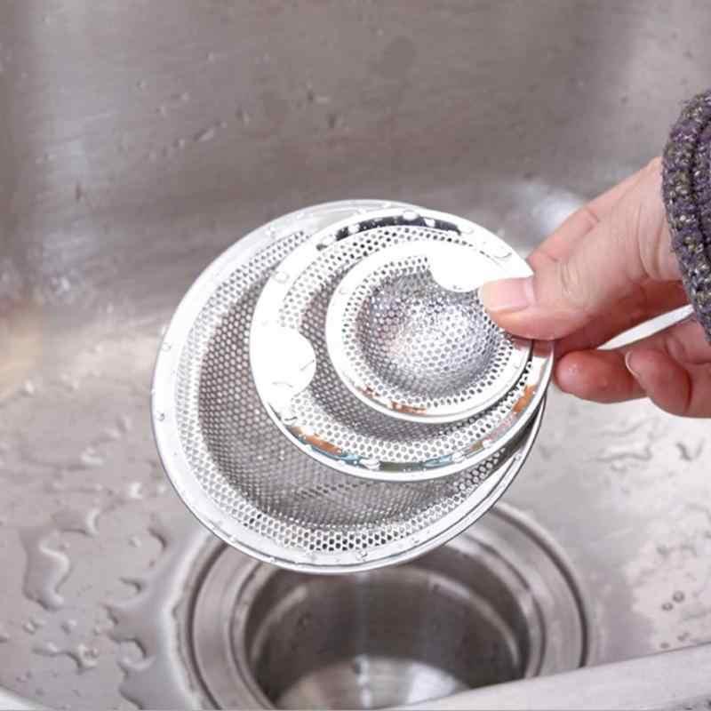 O coletor de cabelo da banheira de aço inoxidável rolha de resíduos do chuveiro dreno buraco filtro de malha armadilha pia filtro drenagem da bacia para a cozinha
