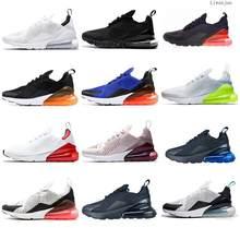 270 Parra ponche caliente foto azul para hombre mujeres corriendo zapatos Triple Universidad blanca Oliva rojo de Habanero 27C estilo 270 zapatillas de deporte