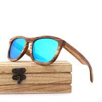 Wayfarer Full - Zebrano - Bleu - Coffret en bois
