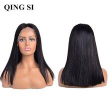Straight Short Bob Wig Brazilian Lace Front Human Hair Wigs