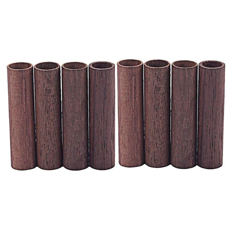 8 Pcs Guitar Pickup Pole Cover Rosewood Rods Tube for Guitar Parts Accessories GH602 for Guitar Lovers and Players